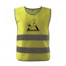 Dětská bezpečnostní reflexní vesta Kačer + NICK - žlutá