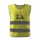 Dětská bezpečnostní reflexní vesta Kačer - žlutá