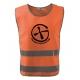 Bezpečnostní reflexní vesta pro dospělé Znak + NICK - oranžová