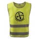 Bezpečnostní reflexní vesta pro dospělé Znak - žlutá