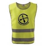 Bezpečnostní reflexní vesta pro dospělé Znak + NICK - žlutá