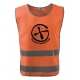 Bezpečnostní reflexní vesta pro dospělé Znak - oranžová