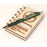 """Logbook s dřevěnými deskami """"NICK"""" (A7) + propiska"""