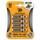 JCB SUPER alkalická baterie AA, blistr 4 ks