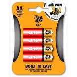 JCB zinko-chloridová baterie AA, blistr 4 ks