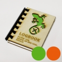 """Logbook s dřevěnými deskami """"Ještěrka I"""" (A7)"""