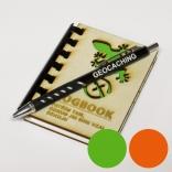 """Logbook s dřevěnými deskami """"Ještěrka I"""" (A7) + propiska"""