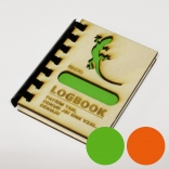 "Logbook s dřevěnými deskami ""Ještěrka II NICK"" (A7)"