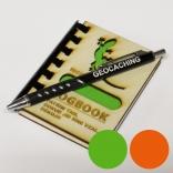 """Logbook s dřevěnými deskami """"Ještěrka II NICK"""" (A7) + propiska"""