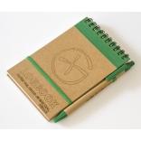 Logbook - recyklovaný papír - 89x139mm