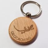 Dřevěný kulatý přívěšek na klíče