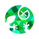 Triko - ještěrka color (zelená)   dámské