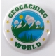 Placka GEOCACHING WORLD velká