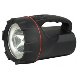 nabíjecí LED svítilna, Pb 3000mAh + AC 230V/DC 12V adaptér, 1x 3W LED, černá