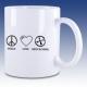 Hrnek bíla - Peace Love