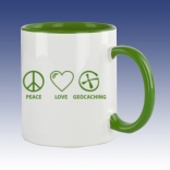 Hrnek zelená - Peace Love