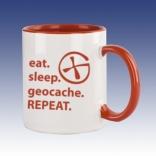 Hrnek červená - Eat sleep