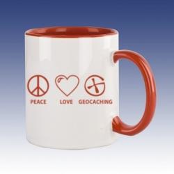 Hrnek červená - Peace Love