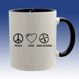 Hrnek černá - Peace Love