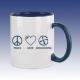 Hrnek modrá - Peace Love