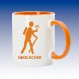 Hrnek oranžová - Geocacher