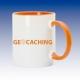 Hrnek oranžová - Geocaching globus