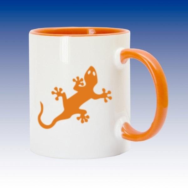 Hrnek oranžová - Ještěrka - CWG Shop - Nejlevnější výrobce CWG 293ee0c42e