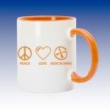 Hrnek oranžová - Peace Love