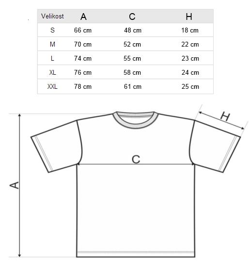Velikosti triček